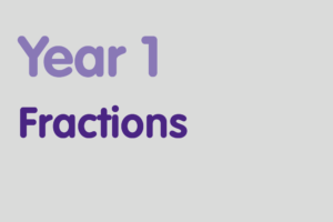 Year 1 activities for practising: Fractions