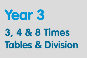 Year 3 activities for practising: 3, 4 & 8 Times Tables & Division
