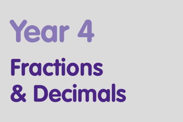 Year 4 activities for practising: Fractions & Decimals
